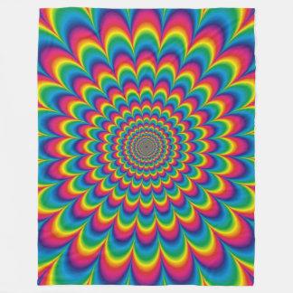 Cobertor De Velo Cobertura psicadélico da ilusão óptica do