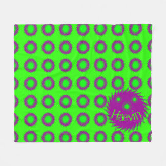 Cobertor De Velo Cobertura retro do divertimento do limão de néon