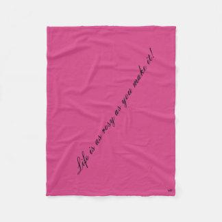 Cobertor De Velo Cobertura rosado do velo da vida