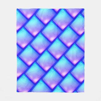 Cobertor De Velo Cobertura roxa e azul do diamante mágico - do velo