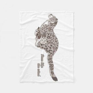 Cobertor De Velo Cobertura Running do velo do leopardo de neve