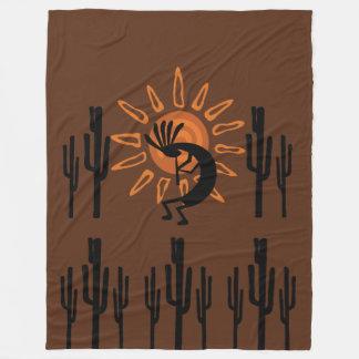 Cobertor De Velo Cobertura rústica do velo de Kokopelli Sun Lg do