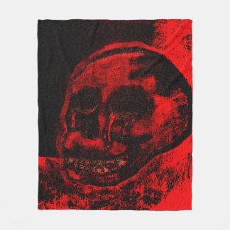 Cobertor De Velo Cobertura sangrenta do velo da pintura do crânio