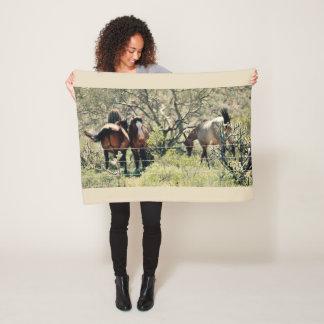 Cobertor De Velo Cobertura selvagem do velo do mustang do Saguaro