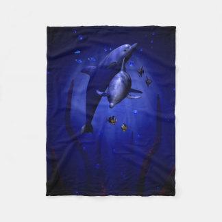 Cobertor De Velo Cobertura Snuggling do velo dos golfinhos