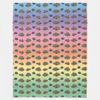 Cobertor De Velo Cobertura tropical do velo da agitação dos peixes