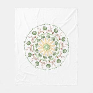 Cobertor De Velo Cobertura vegetal da mandala do tamanho médio