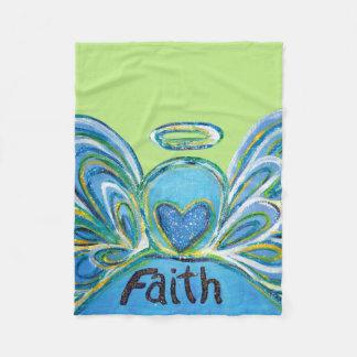 Cobertor De Velo Cobertura verde de Chemo do anjo-da-guarda da fé
