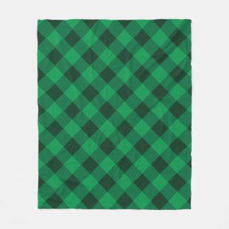 Cobertor De Velo Cobertura verde vibrante do velo da xadrez