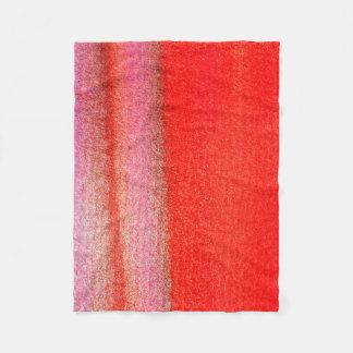 Cobertor De Velo Cobertura vermelha do velo dourado, pequena