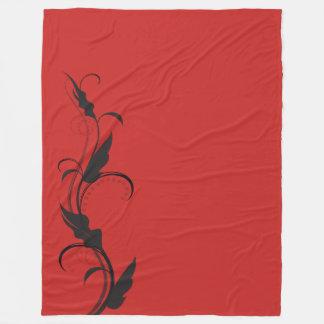 Cobertor De Velo Cobertura vermelha e preta moderna