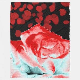 Cobertor De Velo Cobertura vibrante da rosa vermelha