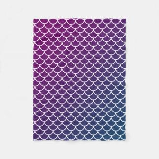 Cobertor De Velo Cobertura vibrante do lance da escala da sereia