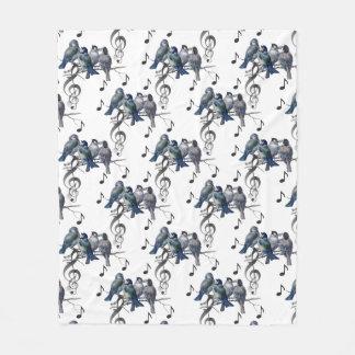 Cobertor De Velo Coberturas azuis do velo da música dos ramos dos