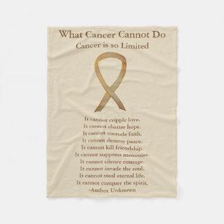 Cobertor De Velo Coberturas da fita da consciência do cancer da