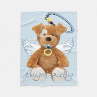 Cobertor De Velo Coberturas do bebê do anjo do urso de ursinho