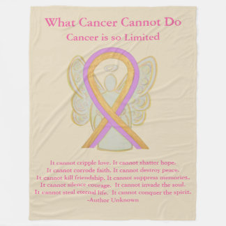 Cobertor De Velo Coberturas do velo da fita da consciência do tumor