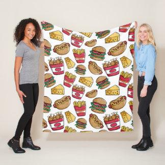 Cobertor De Velo Coberturas do velo do teste padrão do fast food