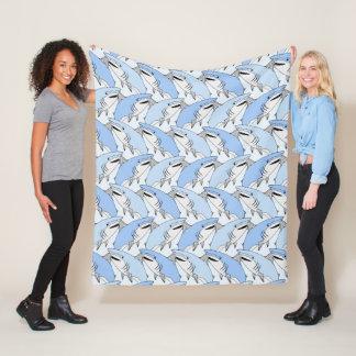 Cobertor De Velo Coberturas do velo do teste padrão dos tubarões