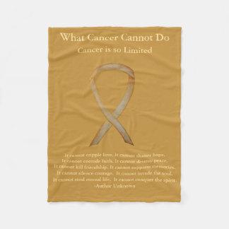 Cobertor De Velo Coberturas macias da fita da consciência do cancer