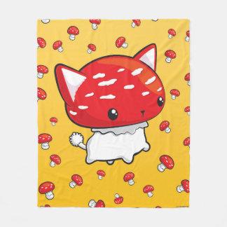 Cobertor De Velo Cogumelo bonito geral do gato de Mewshroom