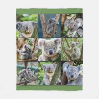 Cobertor De Velo Colagem bonito do urso