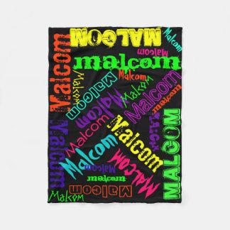 Cobertor De Velo Colagem conhecida de néon brilhante colorida geral
