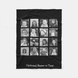 Cobertor De Velo Colagem da foto de Instagram - até 16 fotos