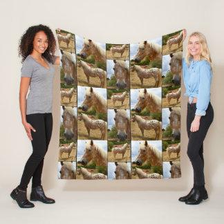 Cobertor De Velo Colagem da foto dos cavalos do Appaloosa, meio