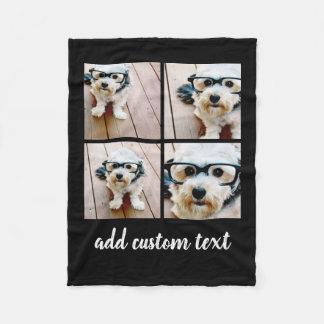 Cobertor De Velo Colagem de 4 fotos - você pode mudar a cor do