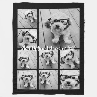 Cobertor De Velo Colagem de Instagram da foto do preto 9 --- PODE