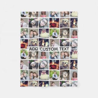Cobertor De Velo Colagem de Instagram de 12 fotos com texto