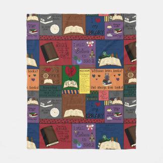 Cobertor De Velo Colagem do viciado do livro