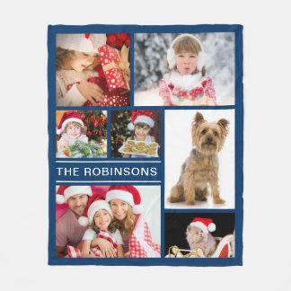 Cobertor De Velo Colagem feita sob encomenda da foto de família