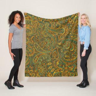 Cobertor De Velo Colagem floral de Paisley do vintage colorido