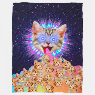 Cobertor De Velo Colagem suprema do deus do gatinho