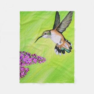 Cobertor De Velo Colibri e Lilac
