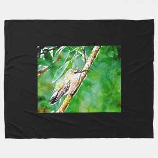 Cobertor De Velo Colibri verde