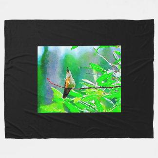 Cobertor De Velo Colibri vermelho verde