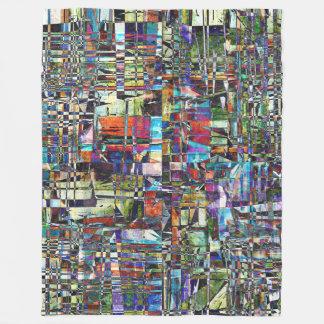 Cobertor De Velo Composto caótico colorido