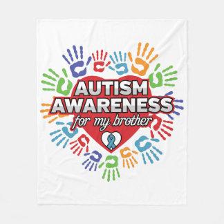 Cobertor De Velo Consciência do autismo para meu irmão