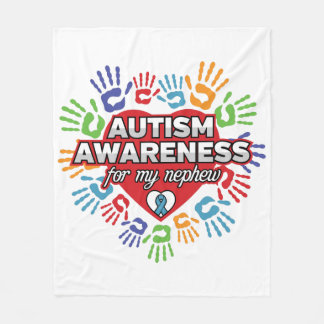 Cobertor De Velo Consciência do autismo para meu sobrinho
