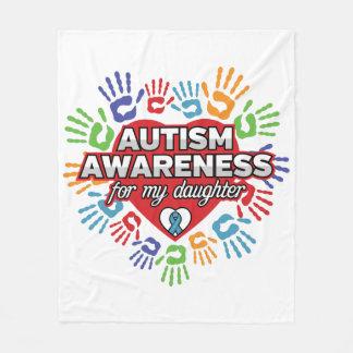 Cobertor De Velo Consciência do autismo para minha filha