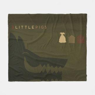 Cobertor De Velo Contos de fadas minimalistas | os 3 porcos