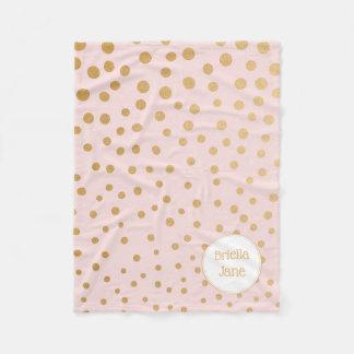 Cobertor De Velo Cora a cobertura personalizada do ouro ponto