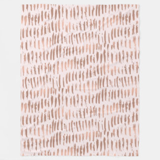 Cobertor De Velo Cora o abstrato do ouro do rosa do rosa
