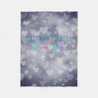 Cobertor De Velo Coração Bokeh