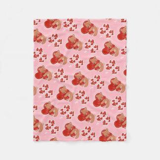 Cobertor De Velo Coração que aquece Teddybear