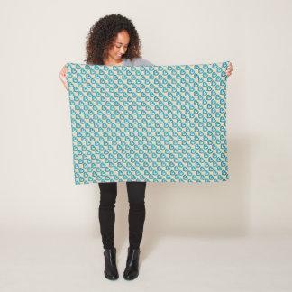 Cobertor De Velo Corações azuis diagonais doces na cor feita sob