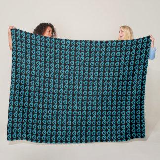 Cobertor De Velo Corações azuis doces na cor feita sob encomenda